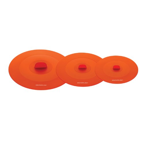 Rachael Ray Accessories 3-Piece Top This! Suction Lid Set, Orange