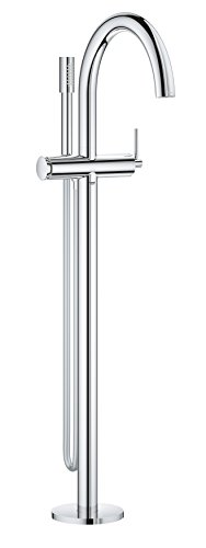 (Grohe 32653003 Atrio Single-lever Floor Mounted Bathtub Faucet, Starlight Chrome)