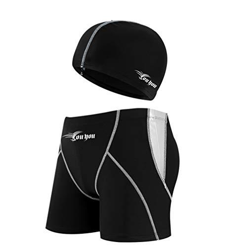 水着 メンズ 海パン ショートブーツ スイムウェア 6セット 水泳ゴールド キャップ 耳栓 鼻クリップ 大きいサイズ ベルト調整可能 スイミング ポーチ 競泳水着 水泳 パンツ 水泳帽