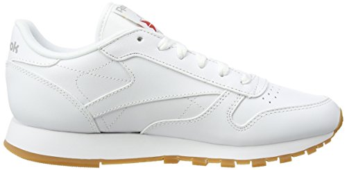 Reebok Classic Leather Zapatillas, Mujer Blanco (Int/White/Gum 000)