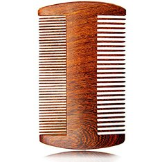 Beard Comb - Earl Buck Wooden Beard Comb for Men with Elegant Wood Design & Gift Box - This Natural Wood Beard Comb Kit Is Perfect for Your Beard, Mustache & Hair & use with Beard Oil & Beard Balm