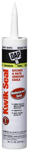 Dap 18002 KWIK SEAL Tub & Tile Adhesive Caulk - White 10.1-oz Cartridge