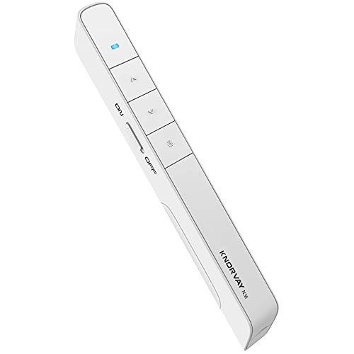 【Key Customized Function】 KNORVAY N36 Presentation Pointer, 2.4GHz Hyperlink Wireless Presenter Remote Laser Pointer Presentation Clicker for Powerpoint Remote, Slide Clicker Mac