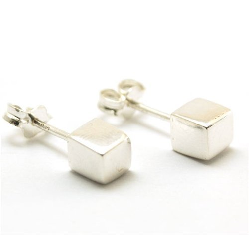 - The Olivia Collection Sterling Silver 5mm Cube Stud Earrings