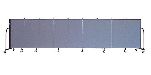Freestanding 48 in. Portable Room Divider w 9 Panels (Lake Fabric) - Screenflex Freestanding Panels