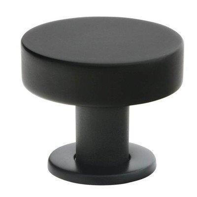 Cadet Round Knob Finish: Black, Size: 1.38