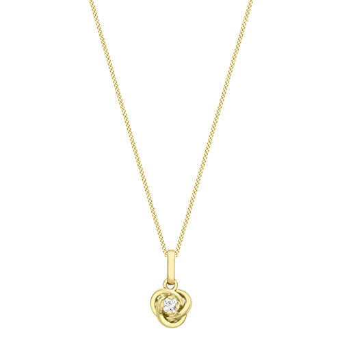 Carissima Gold - 1.45.1544 - Parure Collier et Boucles d'oreilles Femme - Chaîne - Or jaune (9 cts) 1.44 Gr - Oxyde de zirconium