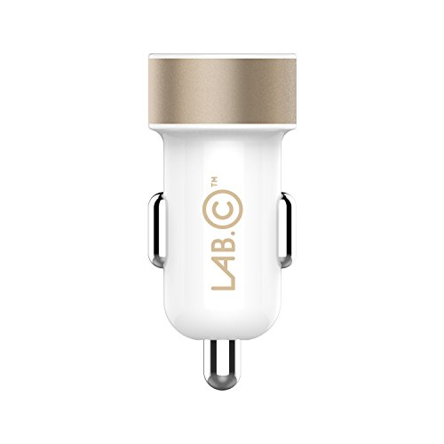 Car Charger LABC Dual USB Car Charger A.L 3.4A Rapid Charger Retail Packaging Compatible for Android, Samsung, Galaxy, Note, Blackberry, Bluetooth Headsets, Headphones, Garmin Navigators & any 5pin device (FREE GIFT 5 PIN CABLE INCLUDED) & COMPATIBLE