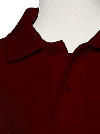 AKA Boys Wrinkle Free Polo Shirt Long Sleeve Pique Chambray Collar Comfortable Quality