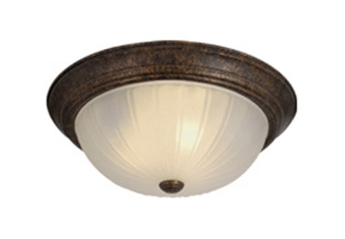 Frosted Melon Glass Light Fixture (Vaxcel CC1755WP Flush Mount with Frosted Melon Glass, 15
