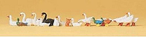 Ho Standard Gauge - Preiser HO Scale Ducks, Geese & Swans by Preiser