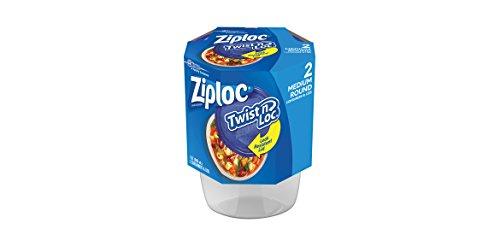 Ziploc Twist N Loc , Medium Round, Containers & Lids, 2 Count