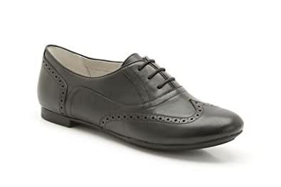 Ladies Clarks Carousel Trick Black Leather Smart Shoes