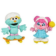 PLAYSKOOL Sesame Street Abby Cadabby & Rosita Skating Friends Figures by Hasbro (Street Skating)