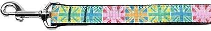 4 Mirage Pet Products Multi-Color UK Flag Nylon Dog Leash