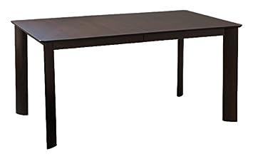 Saloom Furniture Ari Rectangular Maple Smooth Top Dining Table - 42 x 60 - Java Finish