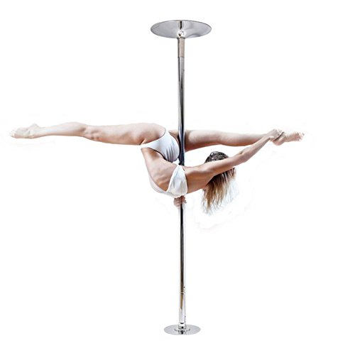 Plus Size Barbie Costumes (WALLER PAA 45mm Portable Stainless Steel Dance Pole Spinning Static Dancing Fitness)