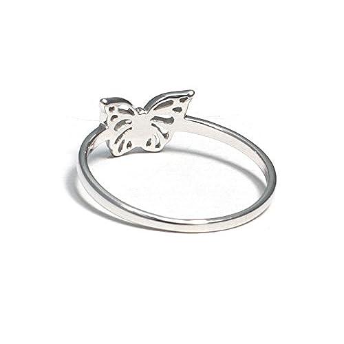 09e55e9c5eee Barato Anillo infantil de plata de ley 925 con mariposa - www ...