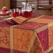 - Montvale Woven Jacquard Tablecloth, 70-Inch Round
