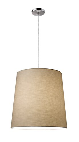 Elk 20167/1 Couture 1-Light Pendant In Satin Nickel With Flat Silver Shade - Couture 1 Light