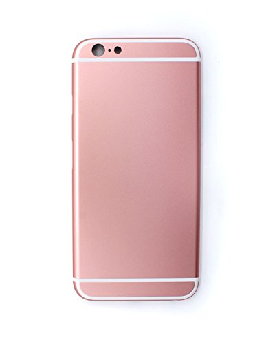 X-Sea Metal Back Housing Metal Alloy Back Case Back Cover Replacement No Logo for iPhone 6S 4.7'' (Rose Gold)