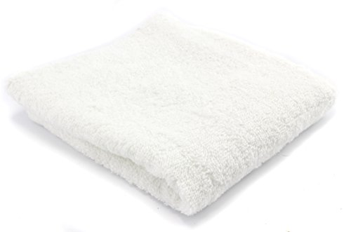 White Cotton Towels 24 pack 13 5 Inch