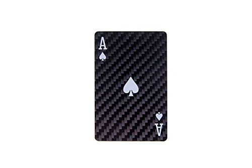 100% Real Carbon Fiber Poker Cards 52pcs + 2 Joker's Gambling Casino Poker Joker Poker Star Playing Cards Package by AAP