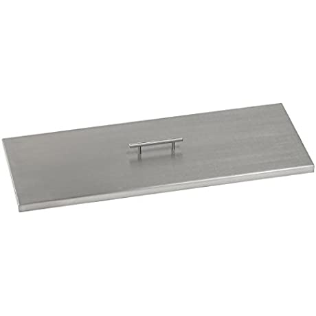 American Fireglass CV AFPP 30 Stainless Steel Cover For 30 Inch Length X 10 Inch Width Drop In Fire Pit Pan