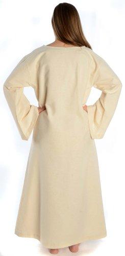 Leinenstruktur Baumwolle Mittelalter HEMAD schwarz S reine Damenkleid braun rot grün beige blau XL Beige Kleid Damen 7wxfwqO