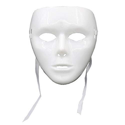 (STUDYY 12 Pcs Full Face Mask Halloween Mask Dance Cosplay Masquerade Party Mask DIY White)