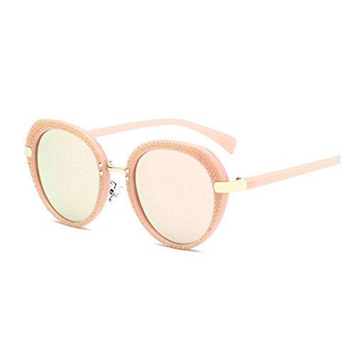 Gafas viajar Gafas mujeres sol Gafas Gafas sol Classic de Conducción sol y Protección PC Frame UV de Retro Retro para de Lady's Rosado de Punk sol Unisex sol G Rivet hombres para Style de Gafas redondas UV a4wfqZ