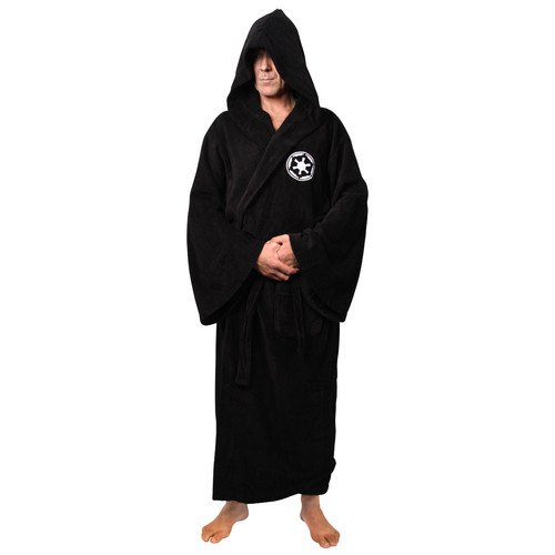 Star Wars Bathrobe (Star Wars Galactic Empire Black Cotton Hooded)