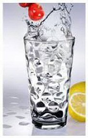 HOME ESSENTIALS SET OF 4 ECLIPSE 17 OZ HIGHBALL COOLER GLASSES by HOME ESSENTIALS