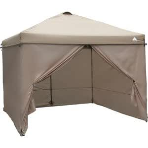 OZARK TRAIL 10u0027 X 10u0027 PATIO LAWN GARDEN FURNITURE WIND CURTAIN TAN  sc 1 st  Amazon.com : ozark 10x10 canopy - memphite.com