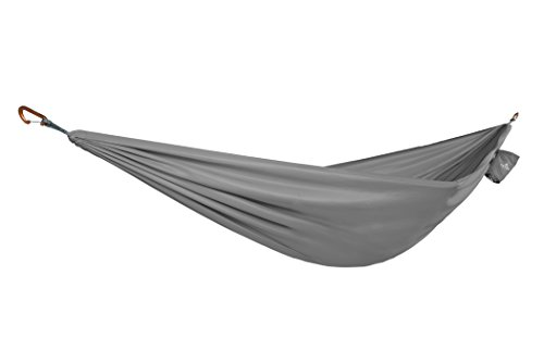 TETON Sports 1325CGY Firefly Hammock with Climbing-Rated Carabiners - Lightweight Portable Hammock; More Comfortable Than Parachute Nylon; Hammock for Backpacking, Camping, Travel, Beach, and Yard (Cut The Rope Time Travel All Levels)