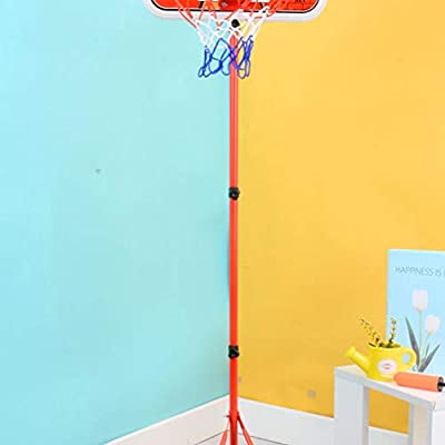 BESPORTBLE 1 Set Kids Basketball Hoop Stand Set Adjustable Height with Ball Pump Wrench Play Sport Games for Toddlers: Toys & Games