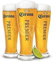 Amazon Com Corona Premier Tall Pilsner Glass Set Of 4 Beer Glasses