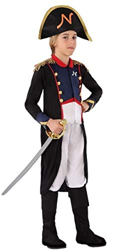 Boys Napoleon Admiral Sailor Renaissance Fancy Dress Costume Outfit 3-12 Years (10-12 Years)