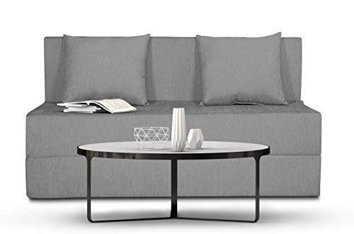 Adorn India Easy Single Seater Sofa Cum Bed Alyn 4'x 6′ (Grey)