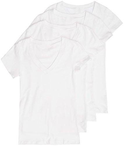 Zenana Womens Basic V Neck T Shirts product image
