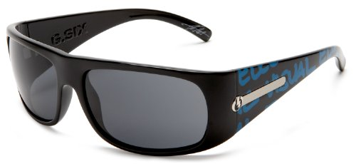 Electric Visual G-Six Cyan Typo/Grey - Sunglasses Cyan