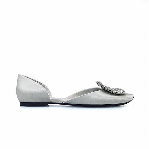 Peu Bouche Creux F Tempérament Sauvage Plates Bouche SED Chaussures Ronde Boucle Profonde Diamant waqOcX8