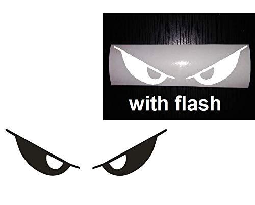 - Black to White Evil Eyes No Fear Decal Reflective Reflector Devil Demon Sticker 6