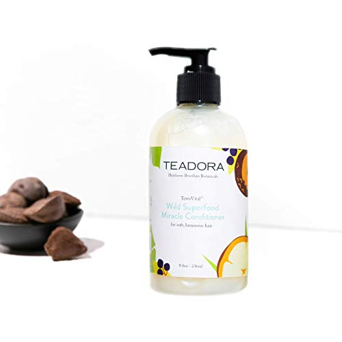 Brazilian Radiance Sulfate-Free Conditioner, Vegan, Argan Cupuacu Acai Buriti, Gentle, Best for Damaged, Frizzy, Color and Keratin Treated Hair, Moisturizing Conditioner, All Hair Types