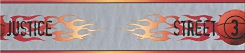 BZ9420B Street Justice Basketball Flames Wallpaper Border 5