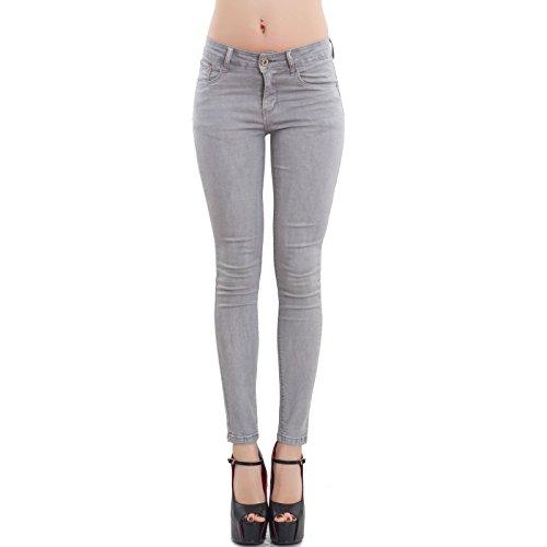 aderenti up pantaloni Jeans Grigio M5780 push elasticizzati donna nuovi slim skinny Toocool 81SpUAqA