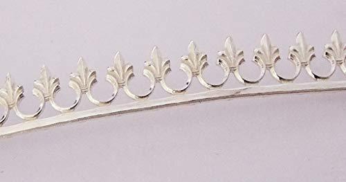 Sterling Silver Gallery Wire Fleur De Lis 1 Foot Package 9.1mm Wide (Gallery Silver Wire)