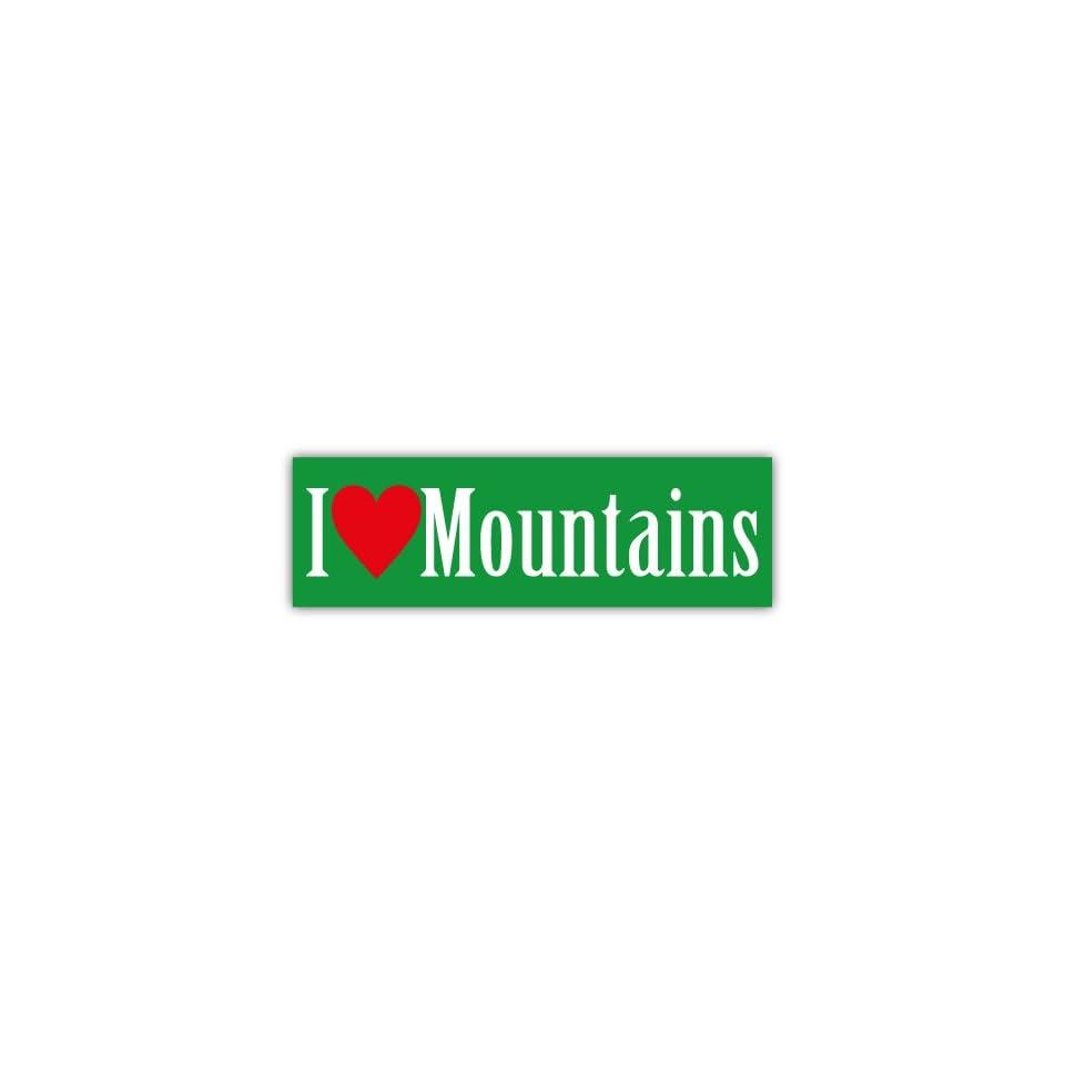 I Love Mountains Car Bumper Sticker Decal 6 X 2