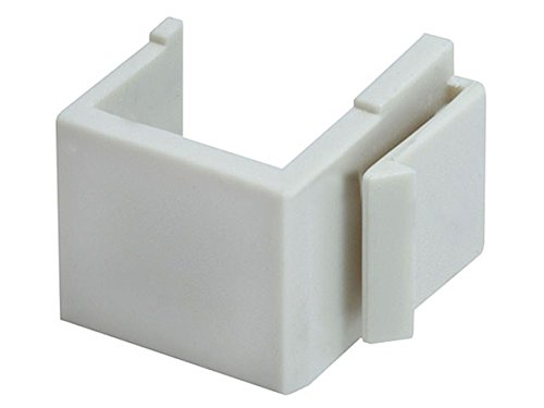 Monoprice Blank Insert For Wall Plate - 10pcs/Pack (Ivory) Ivory Blank Keystone Insert