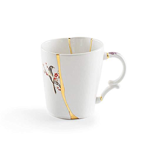 Seletti Kintsugi mug cup in porcelain and 24 carat gold mod. 3